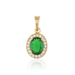 Przywieszka z zielonym kryształem - Xuping PRZ2018