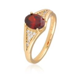 Pierścionek - red crystal - Xuping - PP2018