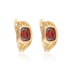Kolczyki z czerwonym kryształem - Xuping EAP10137