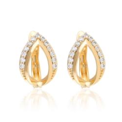 Kolczyki - łezka z kryształkami - Xuping EAP10142