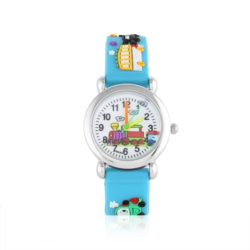 Zegarek dziecięcy błękitny - pociąg - Z925