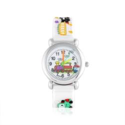 Zegarek dziecięcy biały - pociąg - Z927