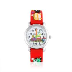 Zegarek dziecięcy czerwony - pociąg - Z929