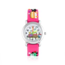 Zegarek dziecięcy różowy - pociąg - Z931