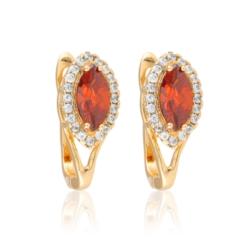 Kolczyki - czerwony kamień - Xuping - EAP10166