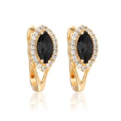 Kolczyki - czarny kamień - Xuping - EAP10167