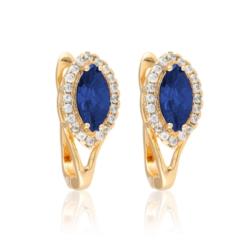 Kolczyki - niebieski kamień - Xuping - EAP10168