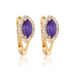 Kolczyki - fioletowy kamień - Xuping - EAP10169