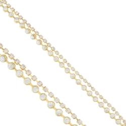 Bransoletka podwójna z kryształkami - BRA1223