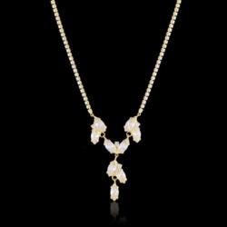 Naszyjnik - czeskie kryształy - N-2023zl - NA1478