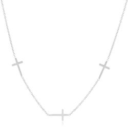 Celebrytka - stal chirurgiczna - krzyżyki CP2151