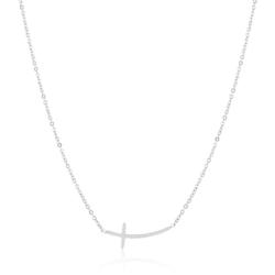 Celebrytka - stal chirurgiczna - krzyżyk CP2157