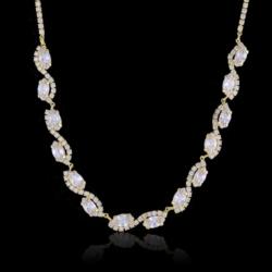 Naszyjnik -czeskie kryształy N-2015zl 41/36 NA1487
