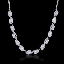 Naszyjnik - czeskie kryształy N-2015 41/36 NA1488