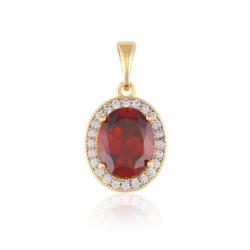 Przywieszka - czerwony kamień - Xuping PRZ2041