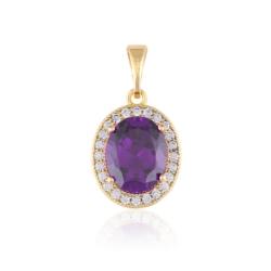 Przywieszka - fioletowy kamień - Xuping PRZ2042
