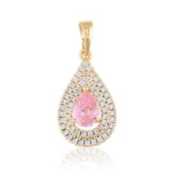 Przywieszka - różowy kryształ - Xuping PRZ2046