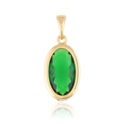 Przywieszka - zielony kamień - Xuping PRZ2048