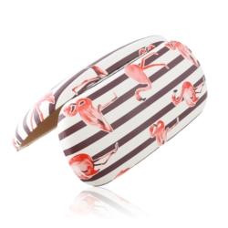 Etui na okulary - flamingi - brązowe paski - EO160