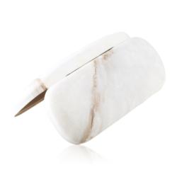 Etui na okulary - marmur - brąz - EO168