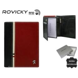 Portfel męski - 326-RBA-D Black/Red - P835