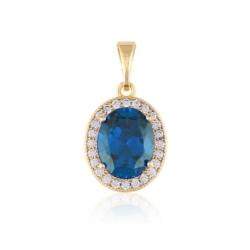 Przywieszka - niebieski kamień - Xuping PRZ2055