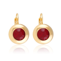Kolczyki z czerwonym kryształem - Xuping EAP10301