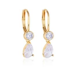 Kolczyki z wiszącym kryształem - Xuping EAP10308