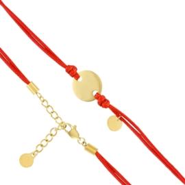 Bransoletka - czerwony sznurek - Blueberry BP4375