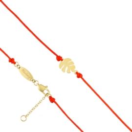 Bransoletka - czerwony sznurek - Blueberry BP4378