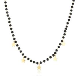 Celebrytka - czarne koraliki - Xuping - CP2207