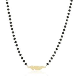 Celebrytka - czarne koraliki - Xuping - CP2209