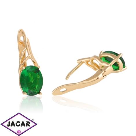 Kolczyki z zielonym kryształem - Xuping - EAP10426