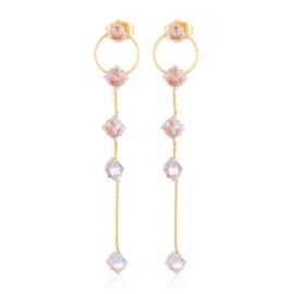 Kolczyki - wiszące kryształki - Xuping - EAP10431