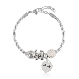 Bransoletka - stal chirurgiczna - charms - BP4440