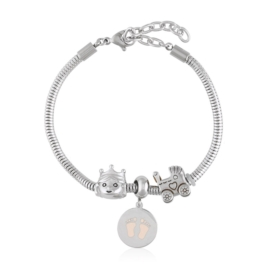 Bransoletka - stal chirurgiczna - charms - BP4441