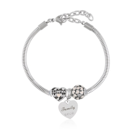 Bransoletka - stal chirurgiczna - charms - BP4442
