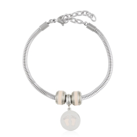 Bransoletka - stal chirurgiczna - charms - BP4443