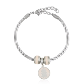 Bransoletka - stal chirurgiczna - charms - BP4444