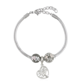 Bransoletka - stal chirurgiczna - charms - BP4445