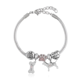 Bransoletka - stal chirurgiczna - charms - BP4446