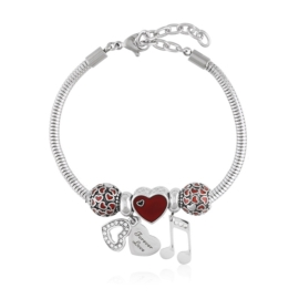 Bransoletka - stal chirurgiczna - charms - BP4447