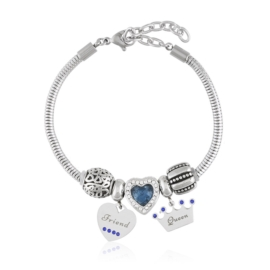 Bransoletka - stal chirurgiczna - charms - BP4448