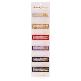 Spinki edytki z kryształkami 6,5cm 6szt OS451