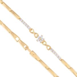 Bransoletka z kryształkami - kwiatek Xuping BP4505