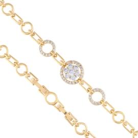 Bransoletka - z kryształkami - koła Xuping BP4506