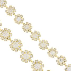Bransoletka - kryształowe kwiatki - BRA1347