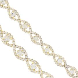 Bransoletka - kryształowe oczka - BRA1351