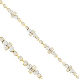 Bransoletka - jednorzędowe kryształki - BRA1354