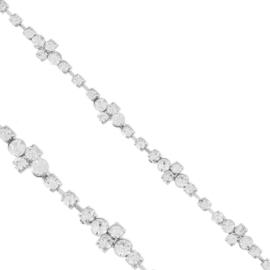 Bransoletka - jednorzędowe kryształki - BRA1355